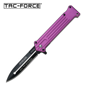 "7.5"" Tac Force Speedster Model Joker Batman Pocket Knife - Frontier Blades"