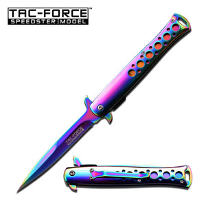 "9"" Tac Force Spring Assisted Tactical Rainbow Pocket Knife TF-884RB - Frontier Blades"