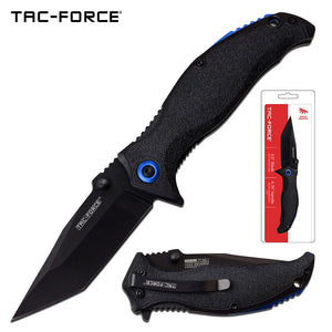"8.25"" Tac Force Speedster Model Black Tanto Pocket Knife - Frontier Blades"