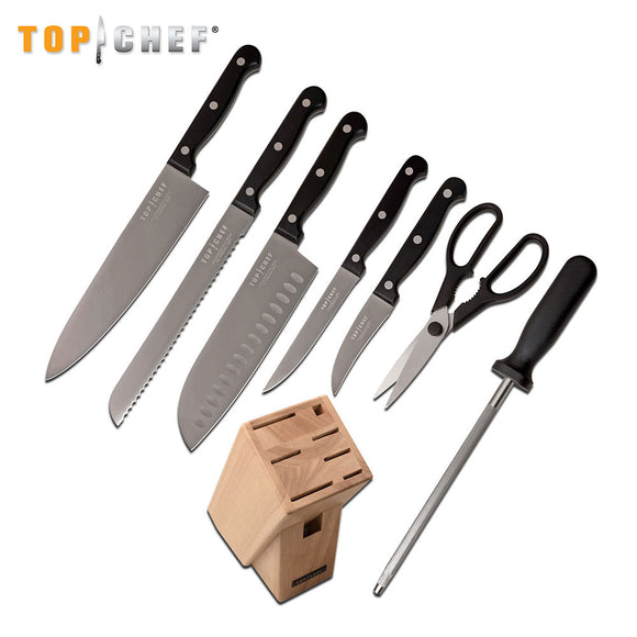 Top Chef 9 Piece Kitchen Knife Block Set - Frontier Blades