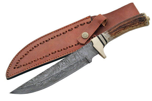 Twist Damascus Hunting Knife - Frontier Blades