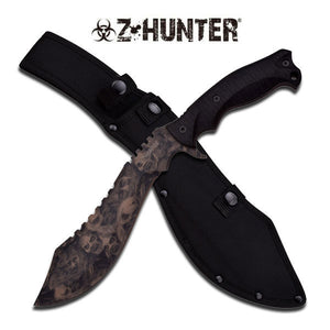 Z-Hunter Fantasy Skulls Tan Machete For Sale (ZB-117TN) - Frontier Blades