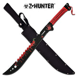 "25"" Z-Hunter Survival Blood Splatter Fantasy Machete (ZB-124RD) - Frontier Blades"