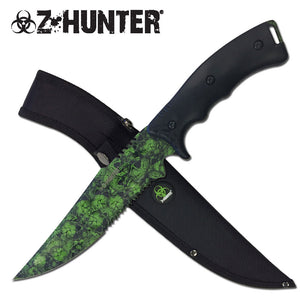 Zombie Head Hunter Bowie Knife (ZB-158BGN) - Frontier Blades