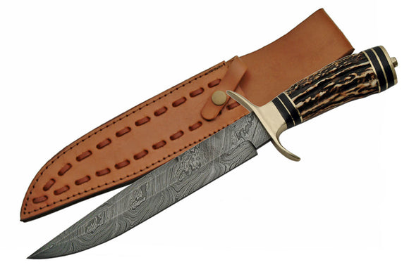 Handmade Damascus Hunting Knife - Frontier Blades