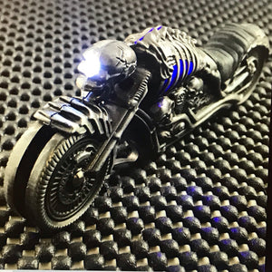"8"" Biker Blade Fantasy Skull Motorcycle Folding Pocket Knife LED Light - Frontier Blades"