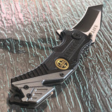 "7.75"" Two Tone Tactical Assisted Open Tanto Navy Pocket Knife - Frontier Blades"