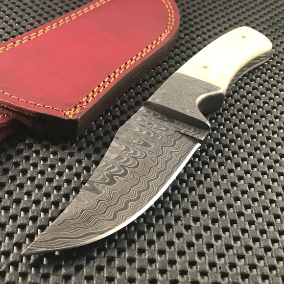 Hand Forged Raindrop Damascus Steel Knife