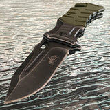 "8.25"" Master USA Spring Assisted Tactical Folding Pocket Knife MUA022GN - Frontier Blades"