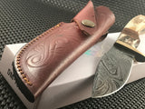 "9"" Custom Damascus All Handmade Skinning Hunting Knife Stag Handle"