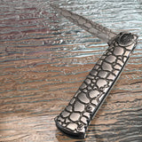 Tac Force Stiletto Silver Cobra Titanium Steel Fantasy Pocket Knife - Frontier Blades