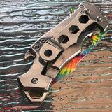 "5.75"" MTech USA Tactical Compact Mini Bottle Opener Pocket Knife - Frontier Blades"