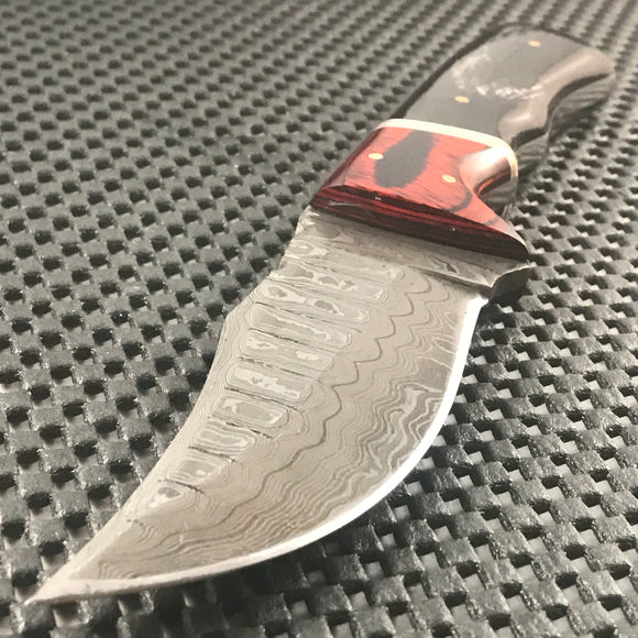 Custom Handmade Raindrop Damascus Steel Knife