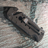 "8.5"" Tactical Navy Gray Assisted Open Folding Pocket knife - Frontier Blades"