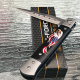 "8.5"" Tac Force American Eagle USA Flag Stiletto Tactical Pocket Knife - Frontier Blades"
