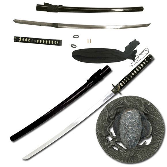 Real Samurai Sword For Sale (SW-341BKD) - Frontier Blades