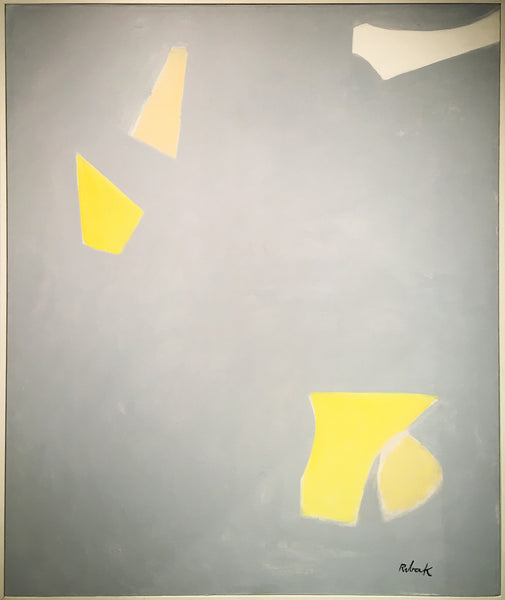Yellow, White and Gray Geometric