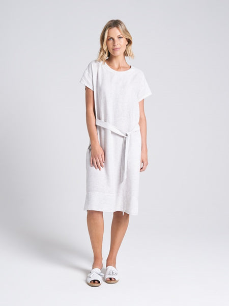 Eden Dress Silver Stripe