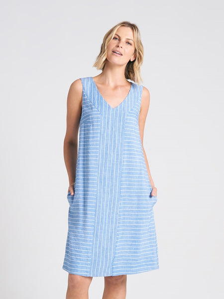 Katana Dress Chambray Stripe