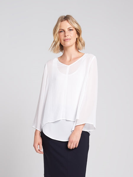 Caitlin Top White
