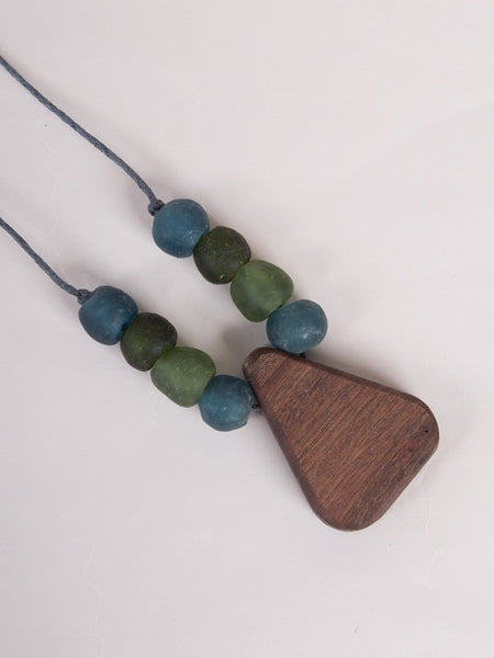 Zoe Necklace Green/Blue