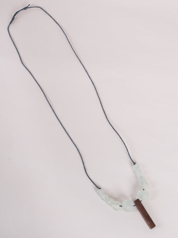 panel necklace white