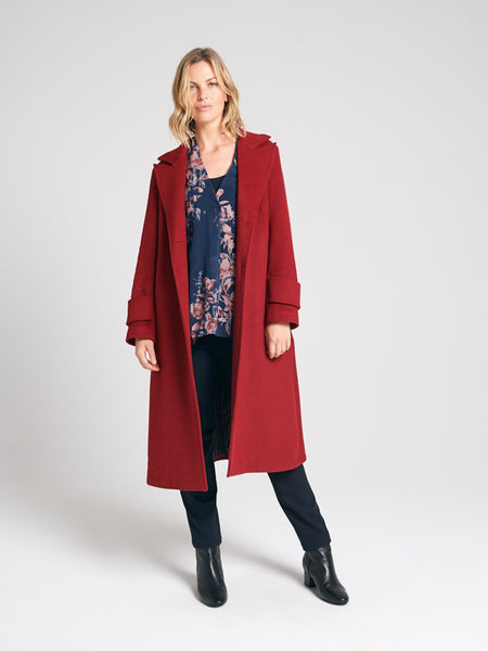 Emmalyn Coat Redwood