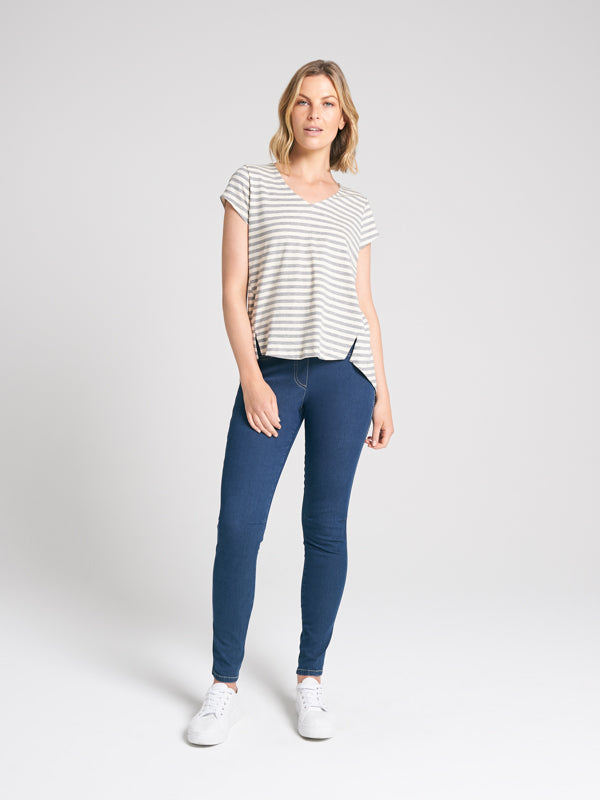 Easton Tee Marle Stripe