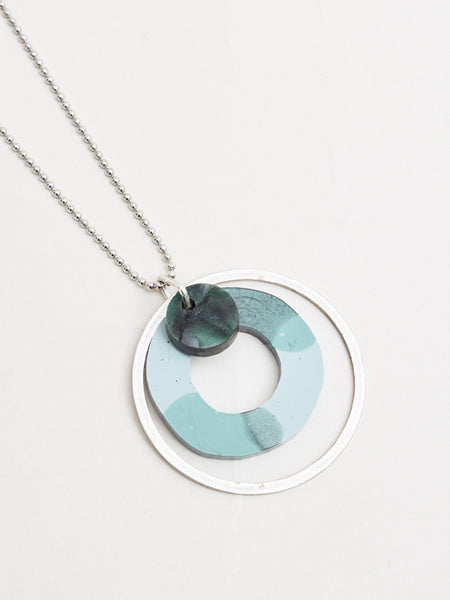 Martha Necklace Silver/Green