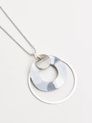 Martha Necklace Silver/Grey