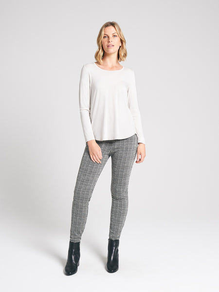 New York pant Ivory Check