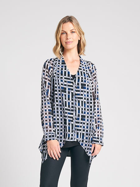 Dresden Shirt blue grid