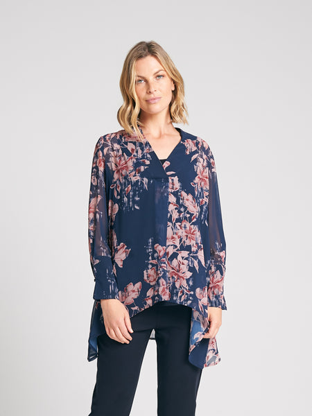 Trapeze Shirt Bloom Print