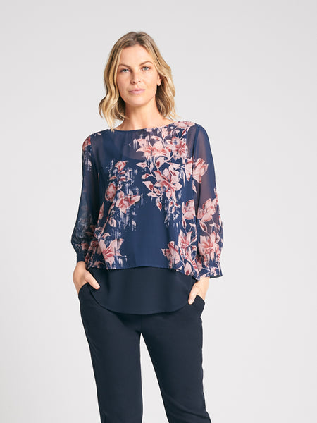 Tasanee Top Bloom Print