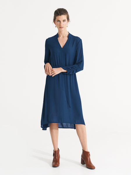 Constance Dress Denim Blue