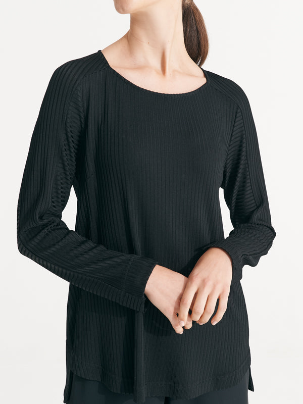 Celia Knit Black Rib