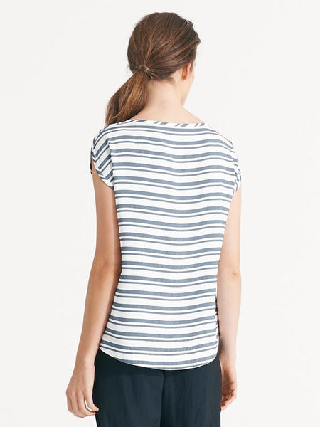 Remi top denim stripe