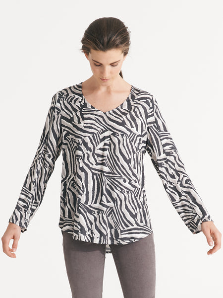 Serina top desert stripe