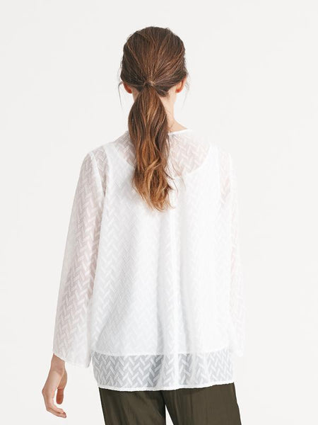 Carly Top textured white