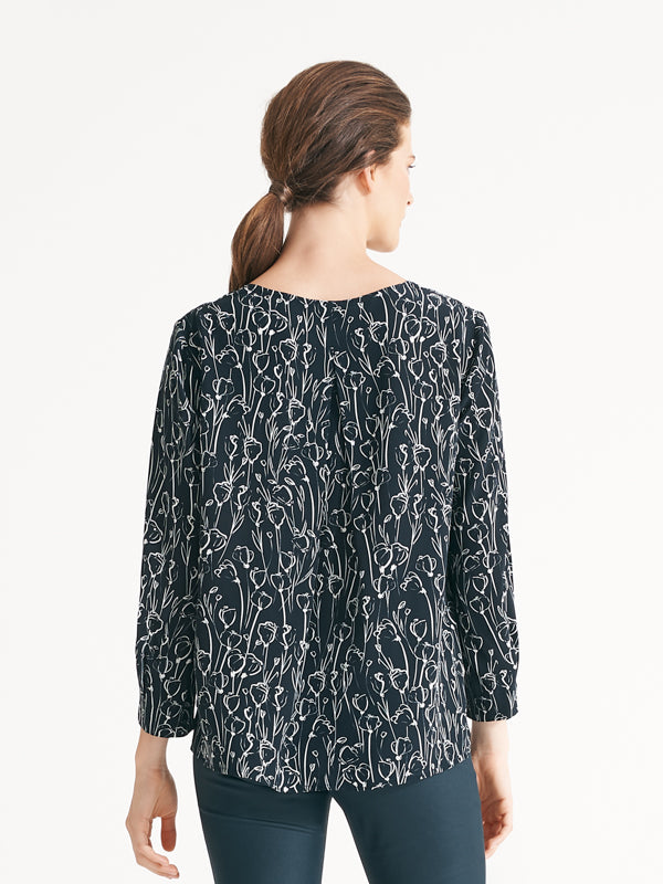 Camilla top sketched floral