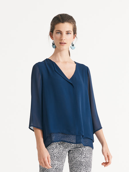 Eliza Top Denim Blue