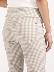 Delphine pant natural gingham