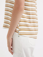 Solstice top ochre stripe