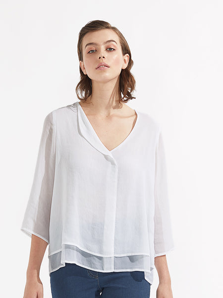 Eliza top white