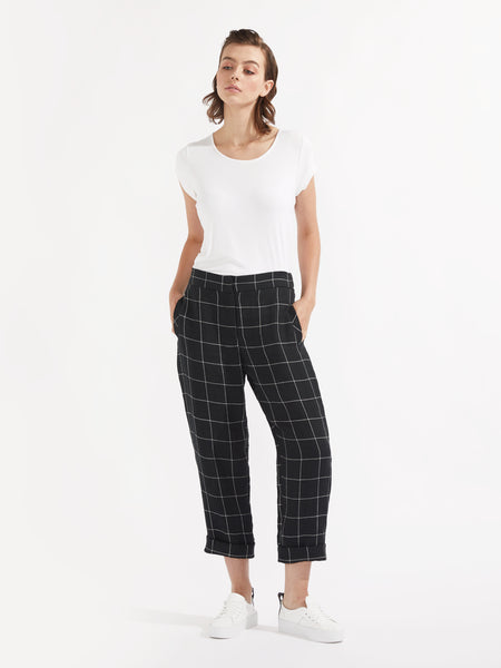 Lyon pant black check