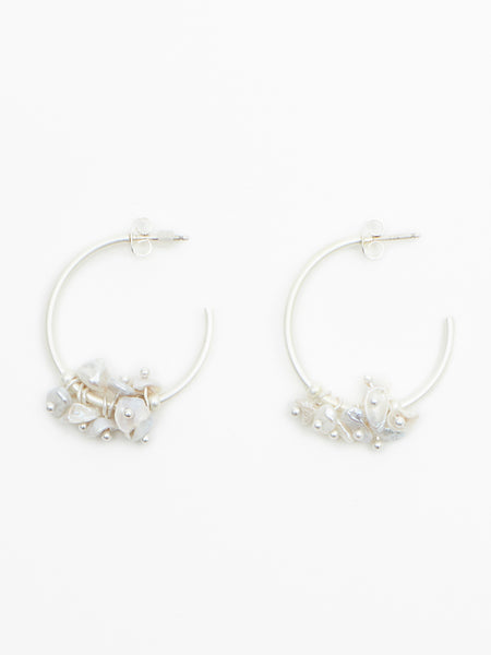 Woodford earring silver pearl