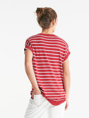 Addington Knit cherry stripe