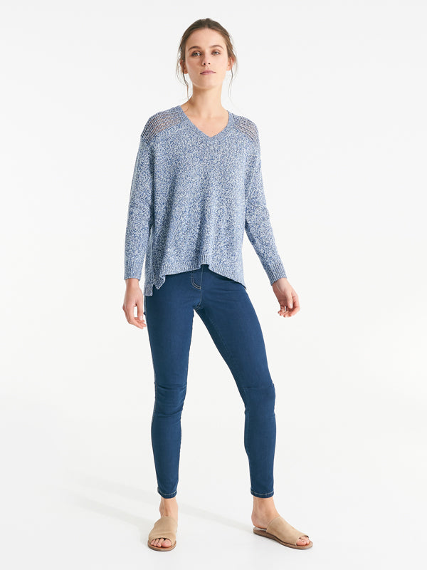 Whitton knit capri blue