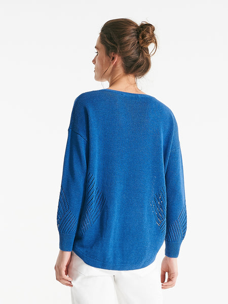 Albany knit capri blue