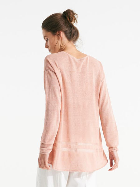 Linnea knit blush